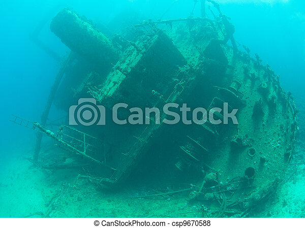 Stern section of a shipwreck - csp9670588