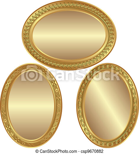 golden oval background - csp9670882
