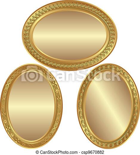 golden oval background - csp9670882