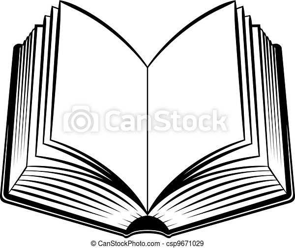 Books Line Drawing Open Book Black And White