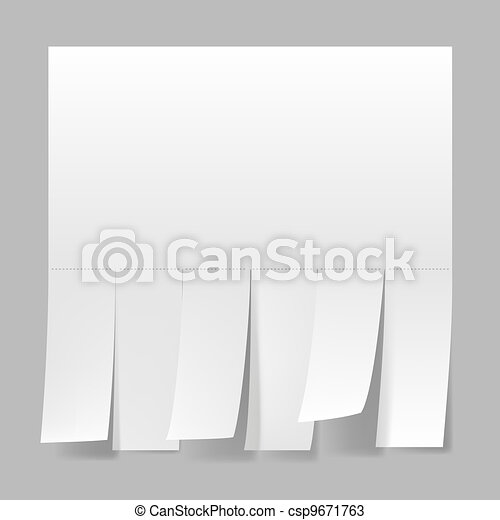 Blank advertisement - csp9671763