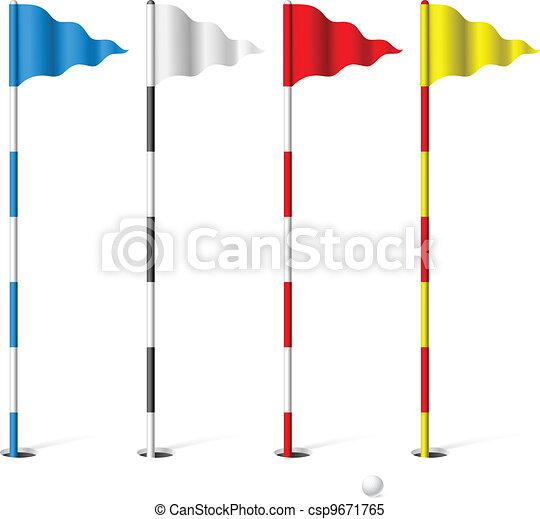 Golf flags - csp9671765