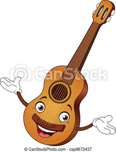 guitarra, caricatura - csp9672437