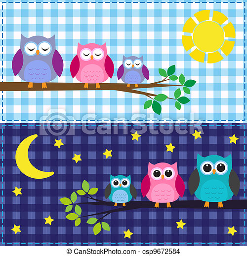 Family of owls - csp9672584
