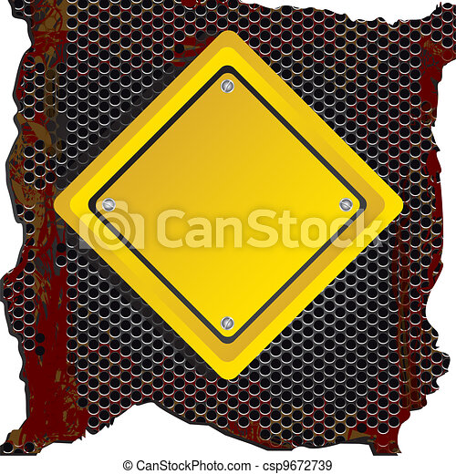 rhombus sign - csp9672739