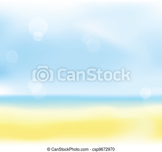 summer beach blur background - csp9672970