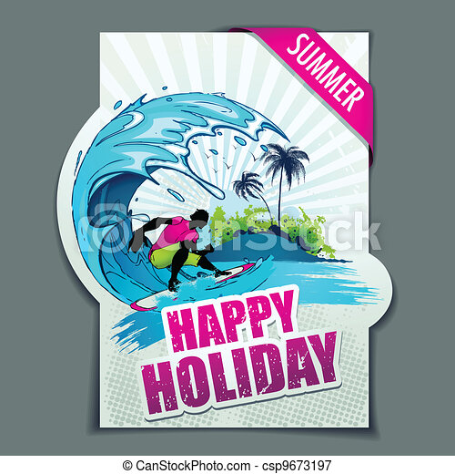 Happy Holiday - csp9673197