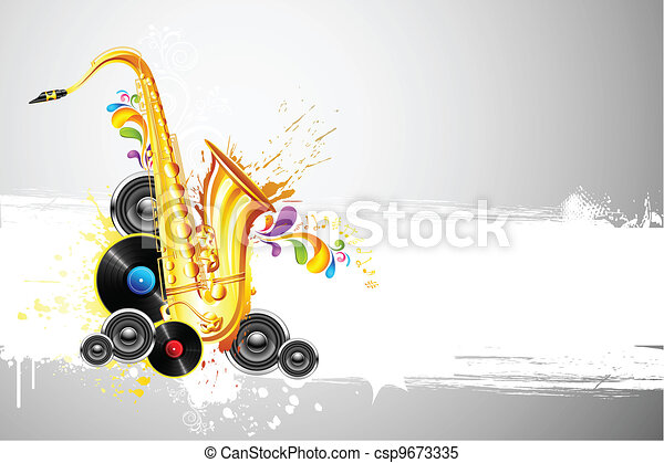 Saxophone and Speaker - csp9673335