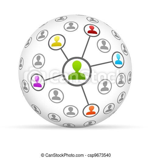 Social Network - csp9673540