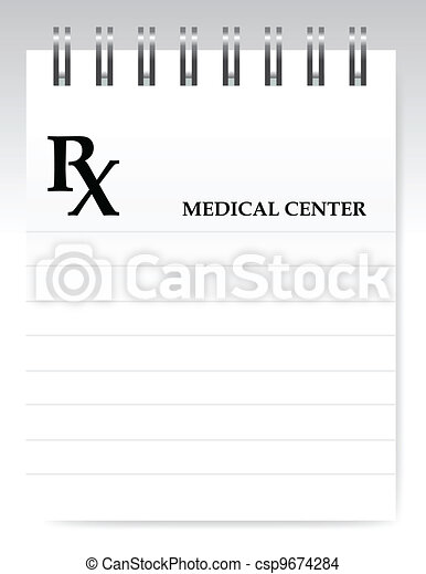 Blank prescription illustration - csp9674284