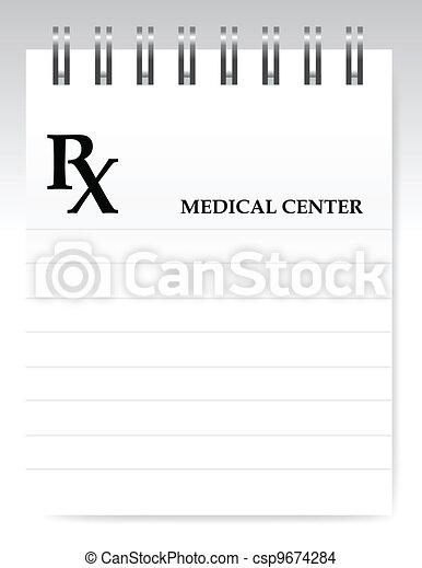 Blank prescription illustration - csp9674284