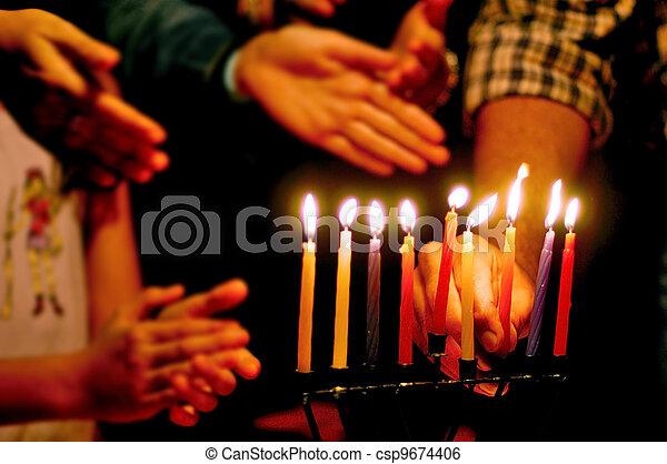 Jewish Holidays Hanukkah - csp9674406