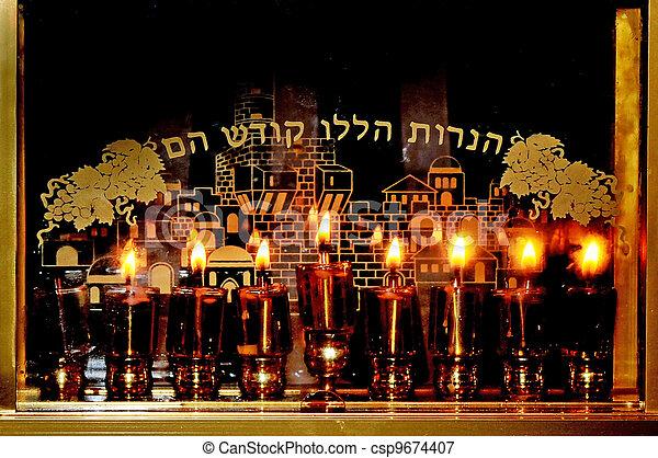 Jewish Holidays Hanukkah - csp9674407