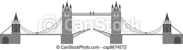 London Tower Bridge Illustration - csp9674572