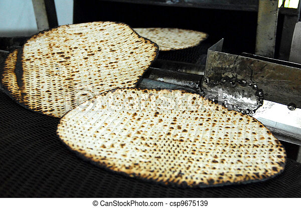 Glat Kosher Matzah Factory  - csp9675139