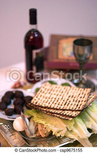 Passover Seder Dinner Celebrations - csp9675155