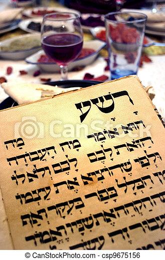 Passover Seder Dinner Celebrations - csp9675156