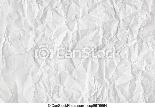 Crumpled paper background - csp9676664