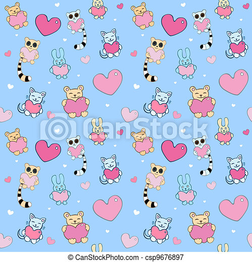Lovely vector background - csp9676897