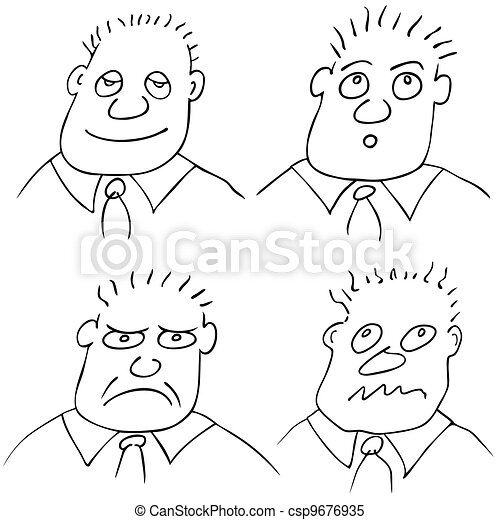 different facial expressions - csp9676935