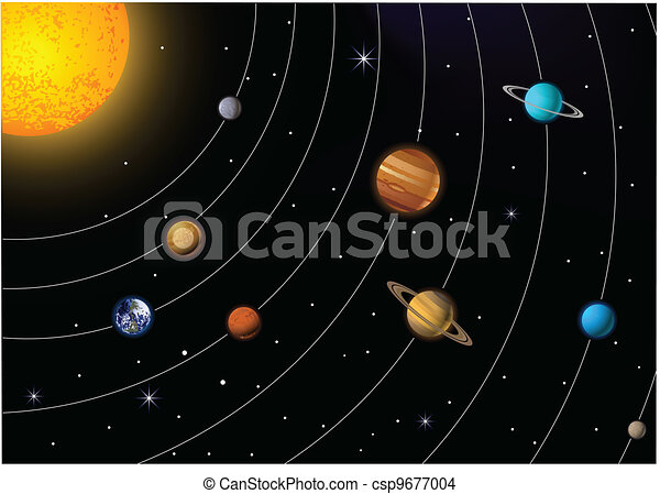 solar system drawing - photo #29