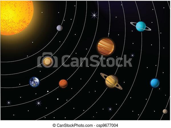 Eps Vector Of Solar System Vector Illustration Of Solar