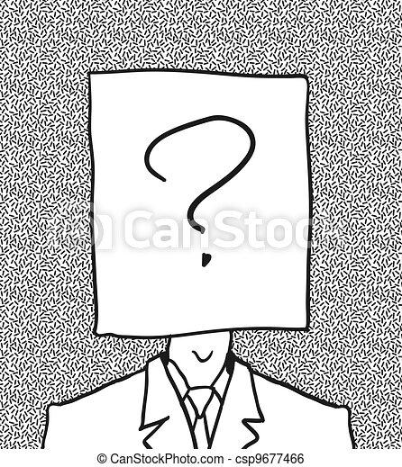 no user profile picture. hand drawn.  - csp9677466
