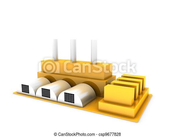 modern factory - csp9677828