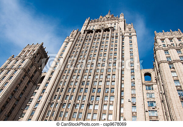 Ministry of Foreign Affairs of Russia, the Stalinist skyscraper, landmark - csp9678069