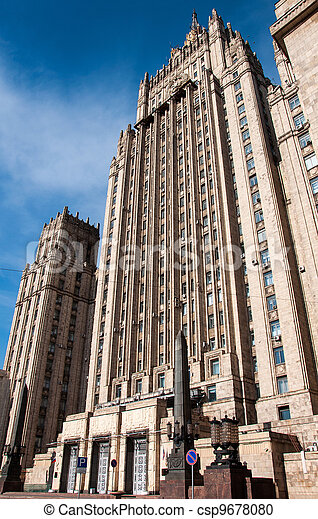 Ministry of Foreign Affairs of Russia, the Stalinist skyscraper, landmark - csp9678080