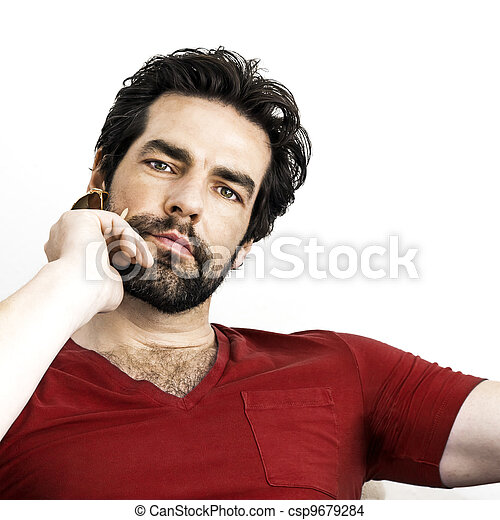 man with beard - csp9679284