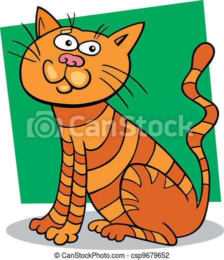 red sitting cat - csp9679652