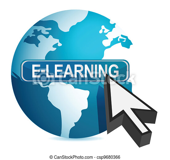 e-learning concept cursor - csp9680366