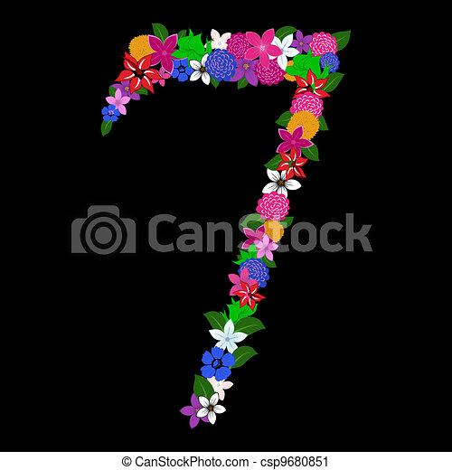 floral numeral - csp9680851