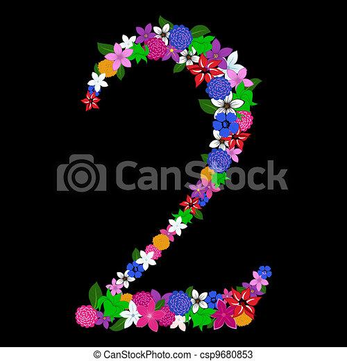 floral numeral - csp9680853