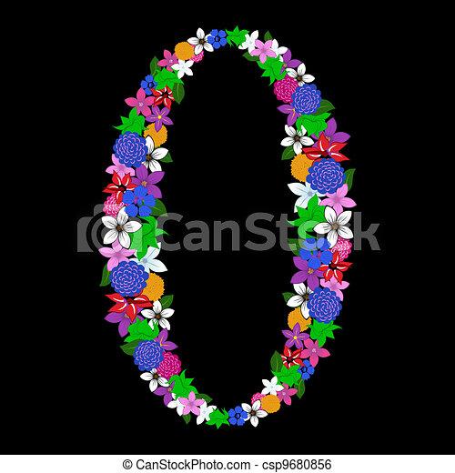 floral numeral - csp9680856