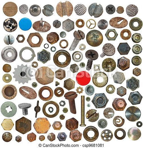 Screw heads, bolts, steel nuts - csp9681081