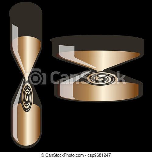 Decorative hourglass - csp9681247