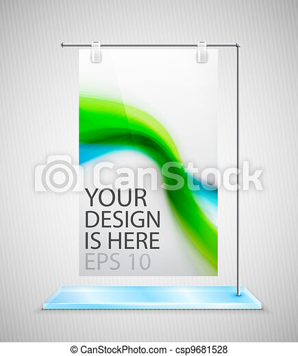 Vector poster stand banner - csp9681528
