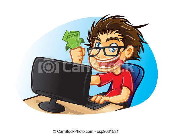 Crazy Geek - csp9681531