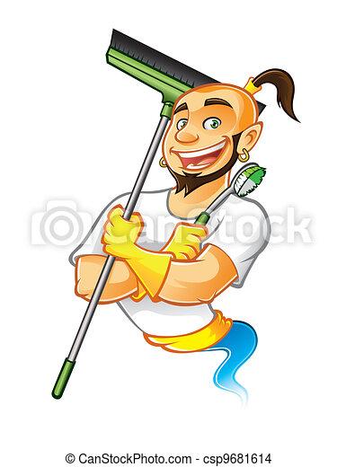 Genie Cleaner Male - csp9681614