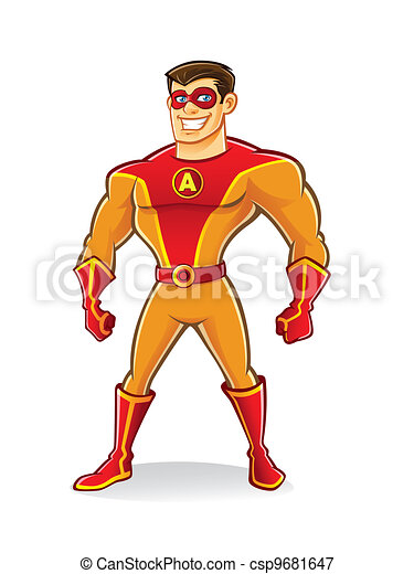Handsome Superhero - csp9681647