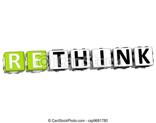 3D Rethink Crossword - csp9681780