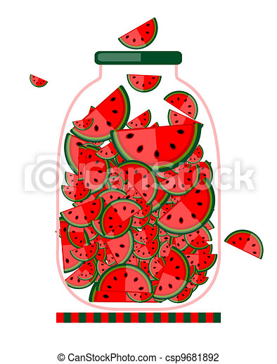 Jar with fruit jam for your design - csp9681892