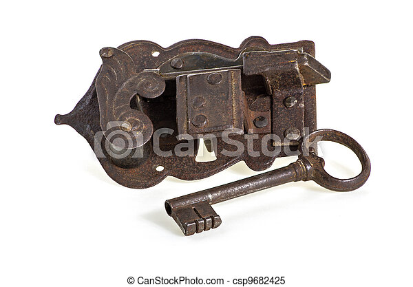 Old Lock with key - csp9682425