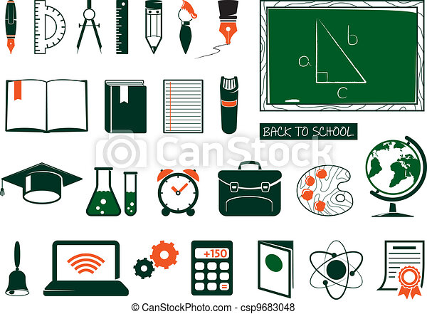 Set of school supplies - csp9683048