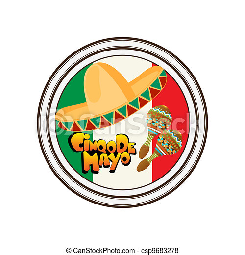 Cinco de Mayo stamp - csp9683278