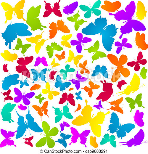 Butterflies in colors - csp9683291