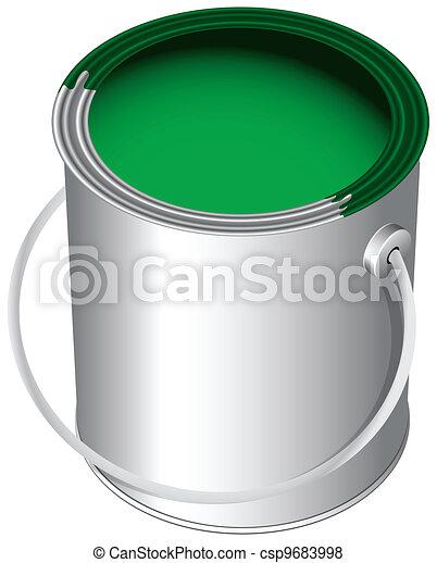 illustration de peinture pot les vert peinture dans les pot les csp9683998. Black Bedroom Furniture Sets. Home Design Ideas