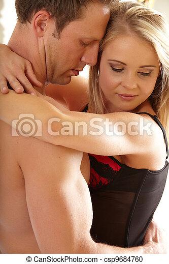Loving caucasian couple - csp9684760